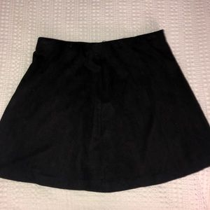 Black suede mini skirt from brandy Melville